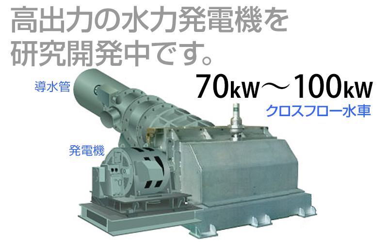 水力発電機を研究開発