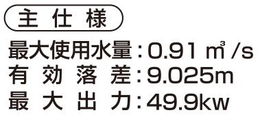 松川第一小水力発電所